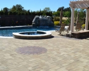 Paver Stone Pool Deck